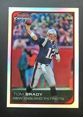 2006 Bowman Chrome Refractor #166 Tom Brady New England Patriots