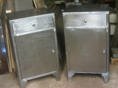 2  Vintage Industrial  Steel Cabinets Made In Usa In1951