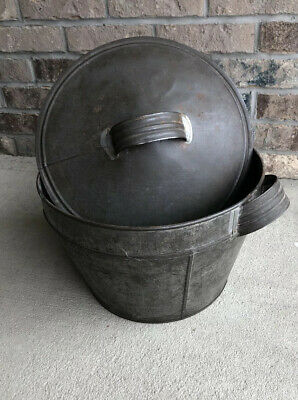 One Of A Kind. VERY RARE. Vintage Bread-dough Rising Pan Tin