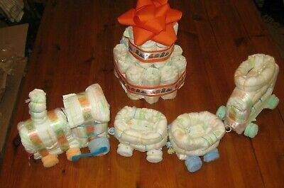 Diaper Train And Cake - Baby Shower