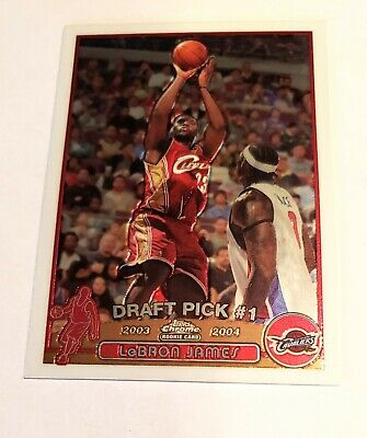 2003-2004 Topps Chrome LeBron James #111 Rookie Card HOT gem mint 10