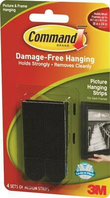 Command 17201BLK Picture Hanging Strip 3 lb/set Weight Capacity Foam