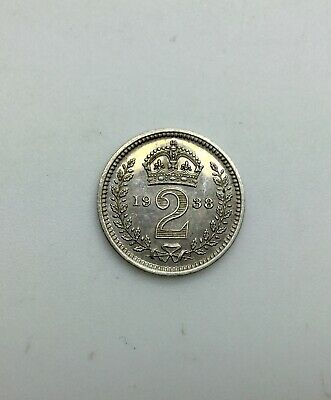 Great Britain 1938  Maundy 2 Pence George VI   Pleasing Coin