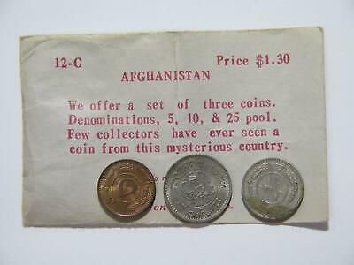 Afghanistan 25 10 5 Pul W/ Antique Original Littleton Coin Co Envelope 12-C ⭐🌈