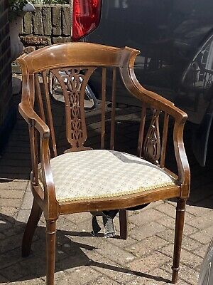 An Inlaid Edwardian Occasional Armchair