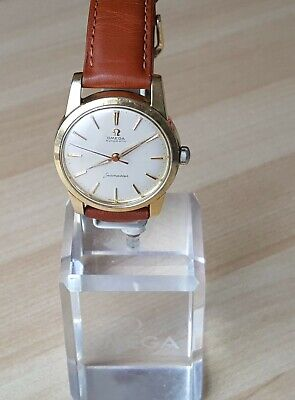 Men's Vintage 1958 Gold Capped Omega Seamaster Automatic Wrist Watch