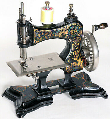 Alte Kindernähmaschine CASIGE 3. Antique toy sewing machine coudre jouet 1913