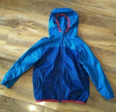Joules rain jacket, age 3, blue with red trim, coat, anorak, kids, child