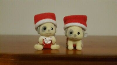 Sylvanian Families Patch Dog Baby Babies First Christmas