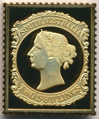 Australia: 1988 24ct Gold on Stg Silver Stamp $99.50 Issue Price - South Aust