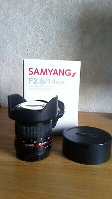 Samyang 14mm f/2.8 ED AS IF UMC Ultra Wide Angle Lens for Canon EF Mount Boxed