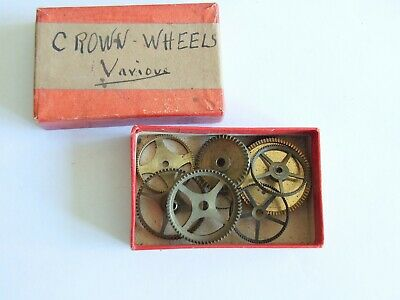 Clock makers lot of vintage/antique clock contrate wheels. Parts