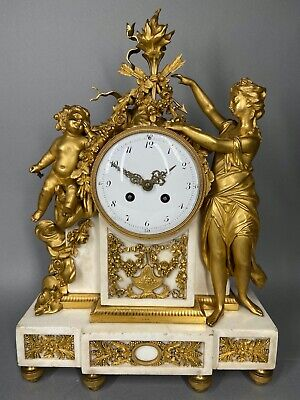 Antique French Louis XVI Gilded Bronze Mantel Clock/ Pendulum 1780.