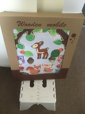 Small Foot Company Wooden Animals Nursery Mobile