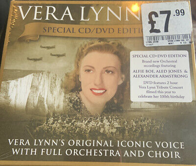 Vera Lynn 100 Special Edition Sealed CD + DVD with 2 Hour Tribute Concert