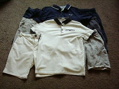 Job Lot Bundle Boys Clothes F&F Kids Age Uk 11 To 12 Years Yrs Tops And Shorts