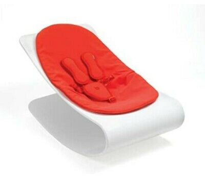 Bloom baby lounger, used but unmarked and in perfect condition.gloss white/red