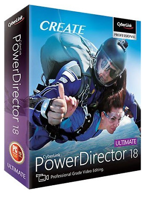 CyberLink PowerDirector Ultimate 18 - Lifetime License - Fast Delivery