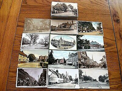 100 old UK Better Topographical postcards, 1903-1967