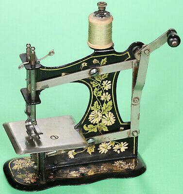 Alte Kindernähmaschine Müller 1 ab 1900 Antique toy sewing machine coudre jouet