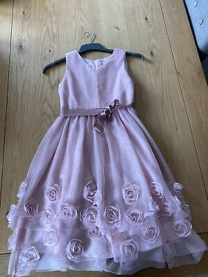 Girls Monsoon Party, Bridesmaid, Flower Girl, Pink Dress, Age 11-12 Years