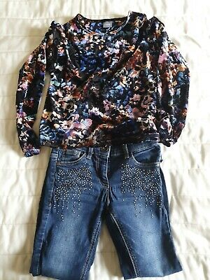 Next Girls Jeans And Top Age 7 Bundle