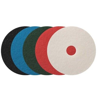13 Inch Black Floor Pads For Cleaning And Stripping Floors.