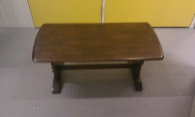 Rare Old Charm Antique Style Dark Oak Solid Wood Coffee Side Table