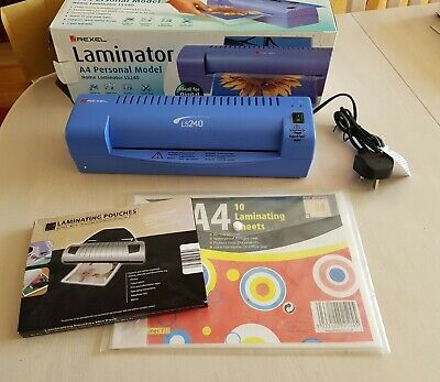 Rexel A4 Personal Model Home Laminator LS240 with pack of pouches