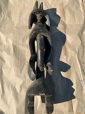 "Antique African art hand carved wood figure massive 40"" abstract"