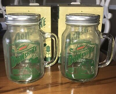 Collectable Dewshine Mason Jars #1 & #2 Mountain dew 2015