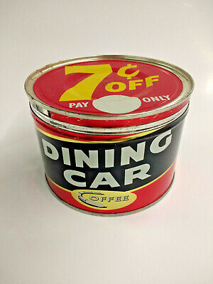 Vintage Dining Car Coffee 1Lb Can St. Louis, Mo.