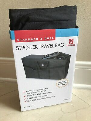 J.L. Childress Stroller Travel Bag for Single and Double Strollers, Durable and