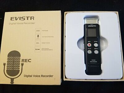 EVISTR 16GB Digital Voice Recorder Voice Activated Recorder with Playback L157