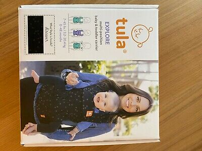 TULA Free to Grow Discover Multi-position Baby Toddler Carrier Black & Stars