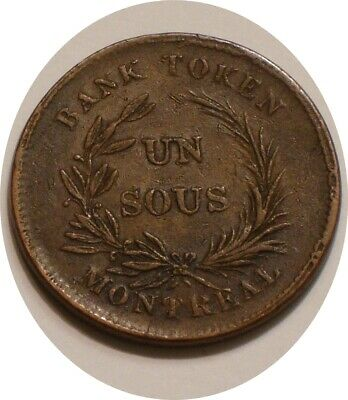 UN SOU Token MONTREAL Bas CANADA Full Detail AGRICULTURE & COMMERCE