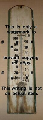 Wooden Thermometer **Primative**