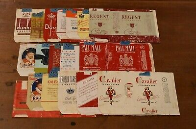Rare Lot of 18 Early Cigarette Labels-Great Graphics-No Reserve