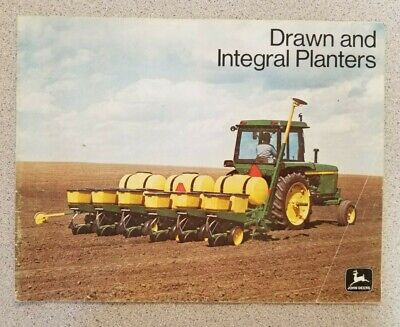 John Deere 1974 Drawn and Integral Planters 27 Page Sales Brochure