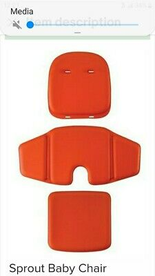 Oxo Tot Sprout Orange Chair Replacement Cushion 3 Piece Set