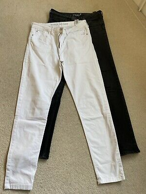 2 Pairs Marks And Spencer Skinny Jeans 1x Black And 1x White Size 12 Regular