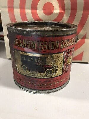 Very early Whiz Antique Transmission Grease Tin can Limousine Car Original