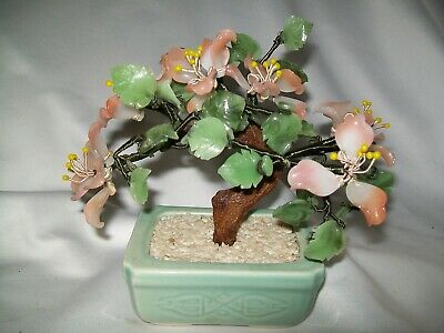 Bonsai Tree Cherry Blossom ? Jade ? Glass ? Flowers Tree