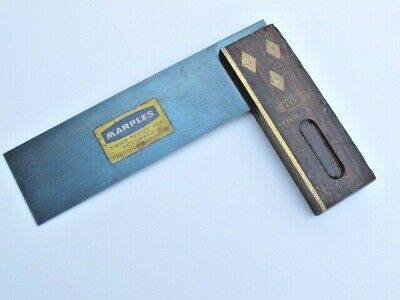 """William Marples 6"""" Joiners Try Square - Diamond Washers & Brass Rivets"""