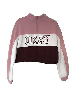 Girls H&M Cropped Hoodie Size S