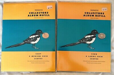 W H Smiths Coin album and refills. New and used