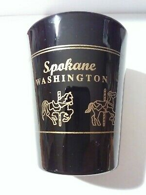 Spokane Washington Carousel Logo Shot Glass Great For Any Collection!