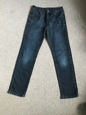 Marks And Spencer Boys Slim Fit Blue Jeans Age 11-12