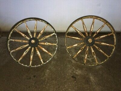 Vintage / Antique Cast Iron Wheels With Stubs Marshalls of Gainsborough