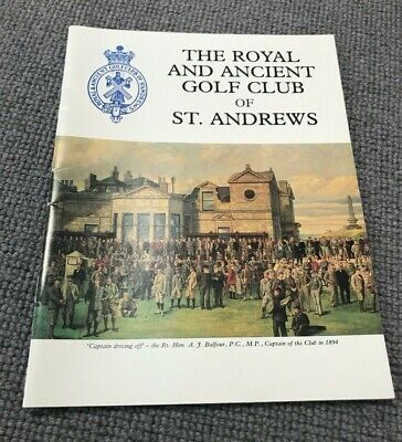 Very Rare Royal & Ancient Golf Club Of St Andrews Publication - Great Condition!